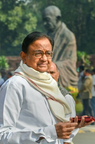 Former Union minister P Chidambaram arrived at the Enforcement Directorate (ED) office for questioning in the INX Media money laundering case on Wednesday, official sources said. PTI file photo
