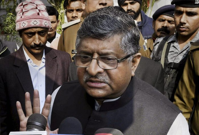 """The people of India know the reality of the Congress and have seen through its games,"" Union minister and senior Bharatiya Janata Party (BJP) leader Ravi Shankar Prasad said, following Gandhi's announcement at a public meeting in Chhattisgarh. (PTI Photo"