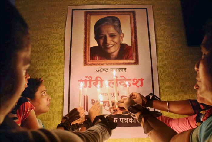 The high court on Thursday reserved the verdict on the bail petition filed by Mohan Nayak N, the 11th accused in the murder of journalist Gauri Lankesh. (PTI File Photo)