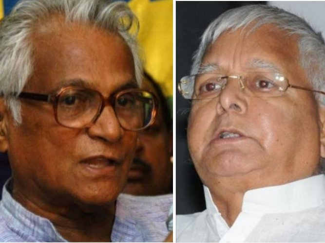 Fernandes and Prasad had a running battle when they were in erstwhile Janata Dal and it had led to the former's exit along with now Bihar Chief Minister Nitish Kumar and others. DH file photos.