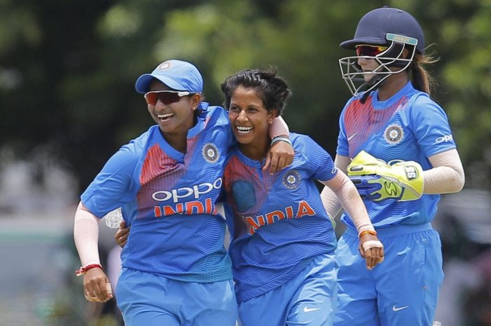 The Indian women's team put behind off-field controversies by making a superb start to the three-ODI rubber. AP/PTI file photo.