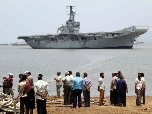 However, it could not take place and the ship had to be scrapped a few years ago. PTI file photo.
