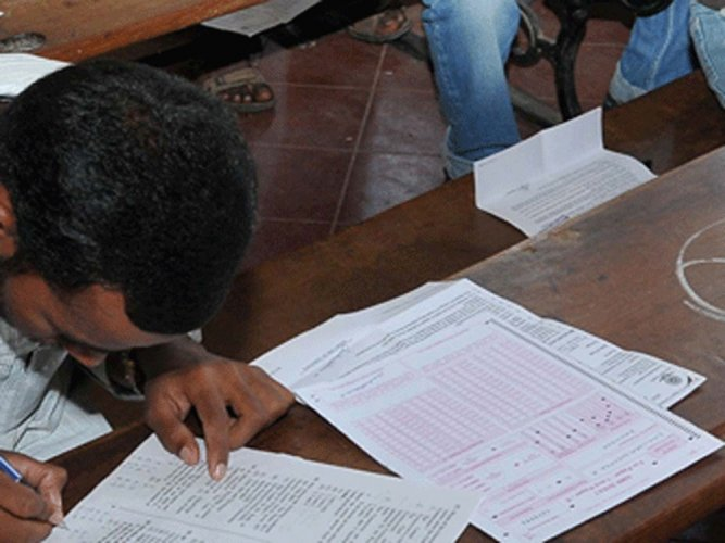 The Karnataka Examinations Authority (KEA), which conducts the Common Entrance Test for professional courses, has decided to slash the fees. DH file photo