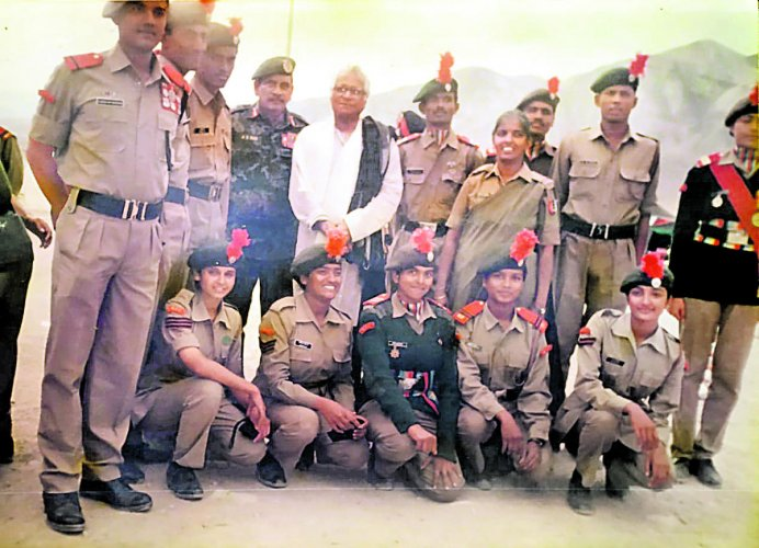 George Fernandes had visited the NCC National Integration Camp, held at Leh in August 2001, as Union defence minister.