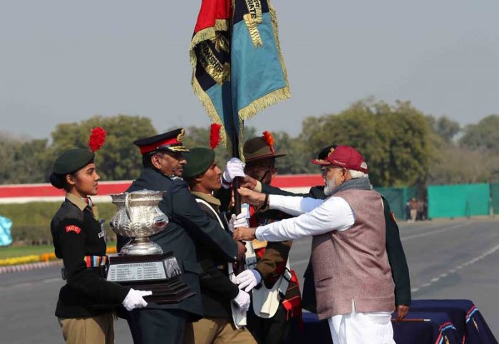 The Karnataka and Goa contingent of the National Cadet Corps (NCC) created history by winning the coveted Prime Minister's Banner at the Army Parade Ground New Delhi.