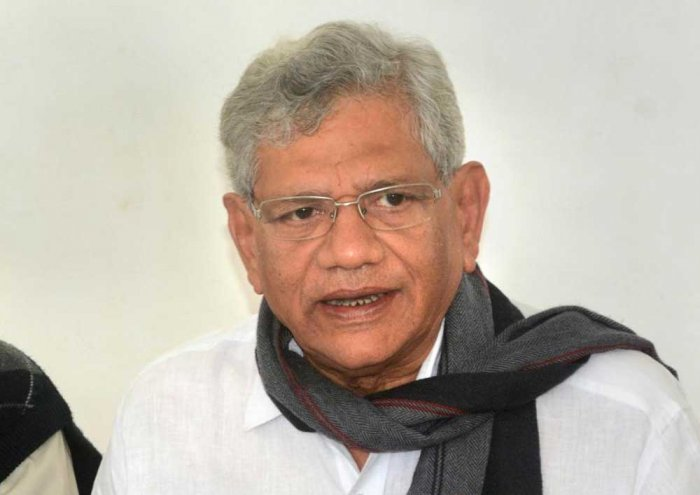 In a statement, the party Polit Bureau said the latest National Sample Survey Organisation's (NSSO) data that has been withheld by the Modi government has shown that unemployment in India post-demonetisation has reached a four-decade high. (Above: CPM general secretary Sitaram Yechuri. PTI file photo)