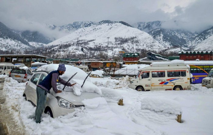 Inclement weather has led to the closure of the strategic Jammu-Srinagar highway this winter many times. (PTI File Photo)