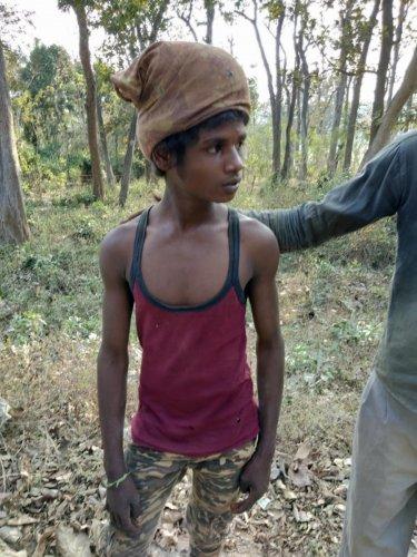 Ballu, the boy who narrowly escaped the tiger attack.
