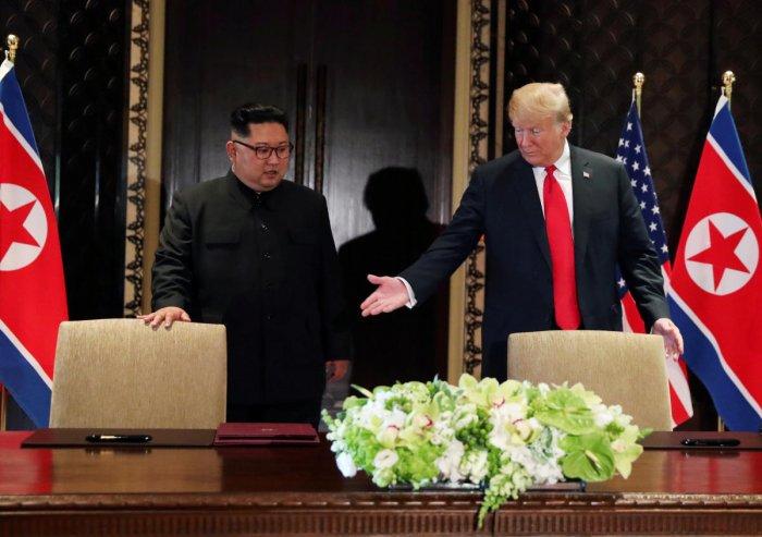 US President Donald Trump and North Korean leader Kim Jong-un. (Reuters File Photo)
