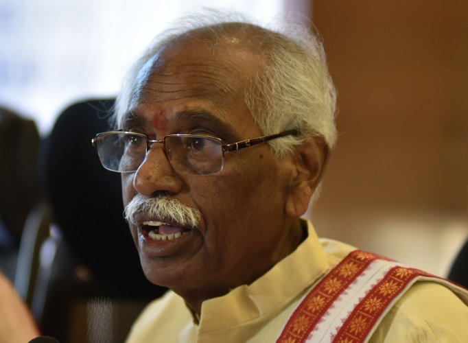 """""""The BJP will independently contest in all the 17 Lok Sabha seats. The Assembly election was a totally different scenario. This is a parliamentary election and we are confident,"""" Dattatreya, the lone BJP MP from Telangana, told reporters. (DH File Photo)"""