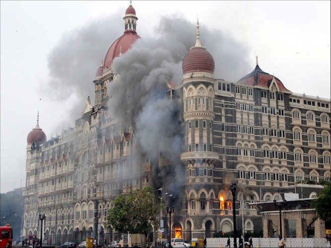File photo of the Taj hotel during the attack
