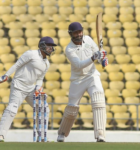 Vidarbha's big gun Wasim Jaffer failed to fire on the opening day of the Ranji Trophy final against Saurashtra in Nagpur on Sunday. PTI