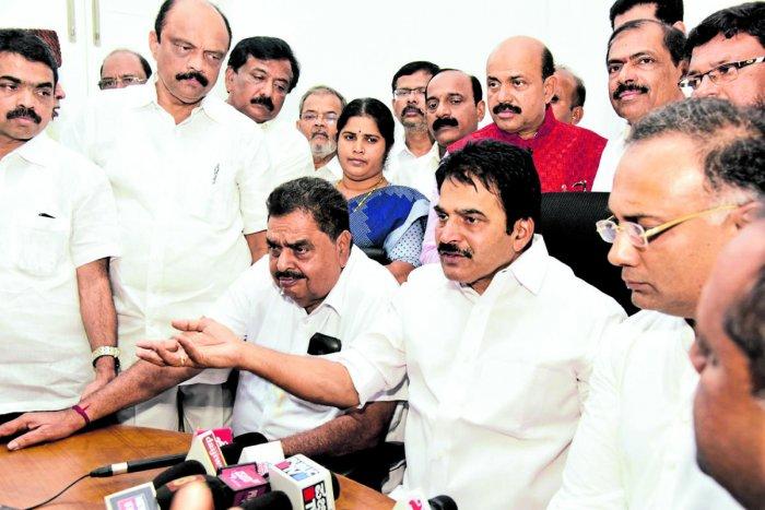 AICC General Secretary and In-charge of Karnataka K C Venugopal speaks to media in Mangaluru on Sunday.