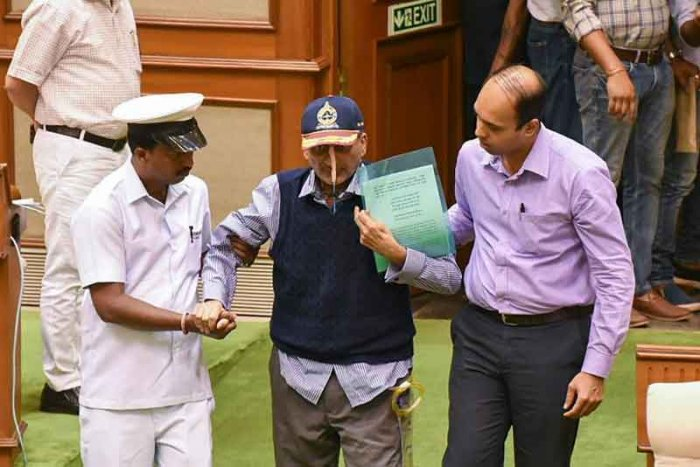 Parrikar heads a coalition government, which is supported by the Goa Forward Party (GFP), the Maharashravadi Gomantak Party (MGP), and three Independent MLAs. (PTI Photo)