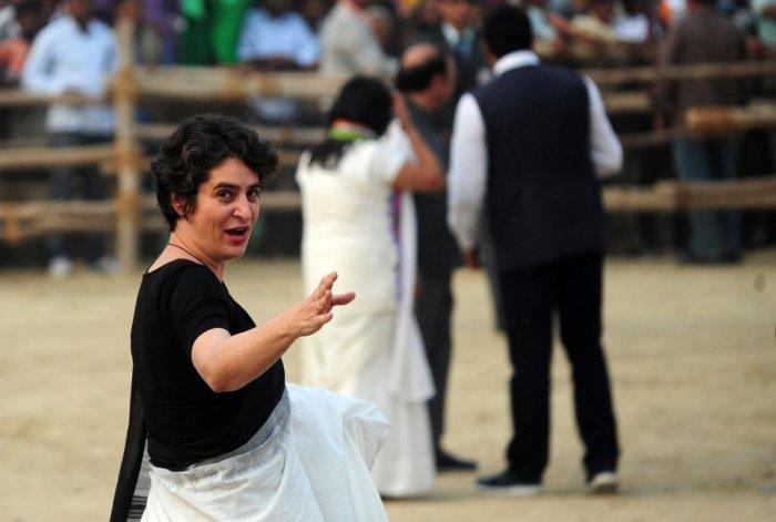Congress Party leader Priyanka Gandhi. (AFP File Photo)