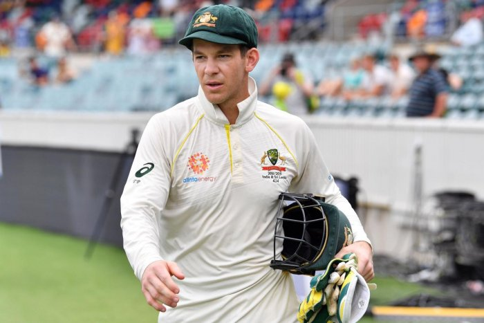 CONFIDENT: Australia's captain Tim Paine feels his team is shaping up nicely for the Ashes against England in August. AFP File Photo