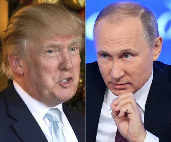 A combination picture of US President-elect Donald Trump (L) and Russian President Vladimir Putin. AFP