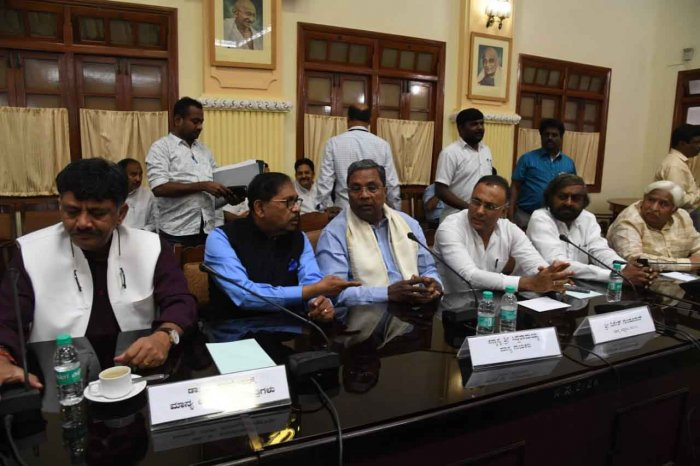 The Congress has decided to seek the disqualification of four disgruntled legislators, Congress Legislature Party (CLP) leader Siddaramaiah announced here on Friday. DH photo