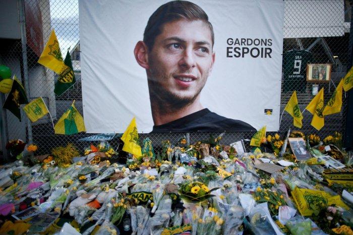 Tributes left for Emiliano Sala. Reuters file photo.