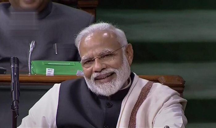"""Modi said in a poll year, leaders have compulsions to make charges but lamented that while slamming Modi and BJP, some people """"start attacking India"""". (PTI File Photo)"""