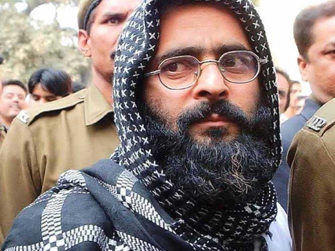 Afzal Guru. File photo