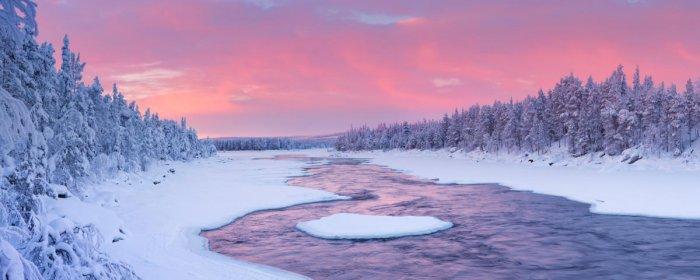 Äijäkoski rapids in the Muonionjoki river, Lapland