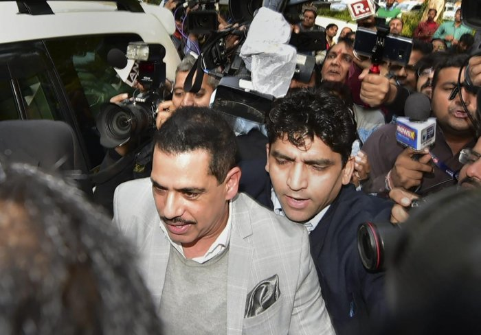 Robert Vadra, Congress chief Rahul Gandhi's brother-in-law, on Saturday appeared before the Enforcement Directorate (ED) for the third time in connection with a probe into allegations of money laundering in purchase of assets abroad. PTI file photo