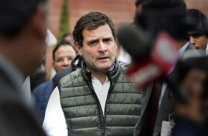 Gandhi cited a media report, which quoted an Uber driver as saying that the government has not given jobs and he found one after investing lakhs, to make his point. (PTI File Photo)