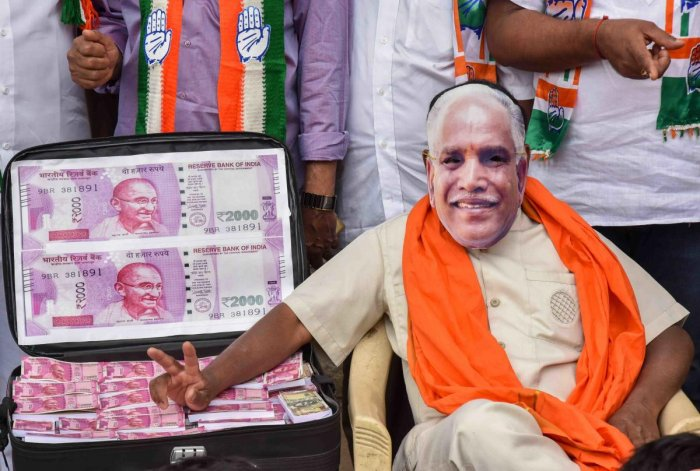 The BJP on Saturday released a tape in which Chief Minister H D Kumaraswamy, back when he was an Opposition leader in 2014, is heard demanding Rs 25 crore to give party leader Vijugouda Patil a ticket to the Legislative Council. The clip had made headlines when it first surfaced five years ago.