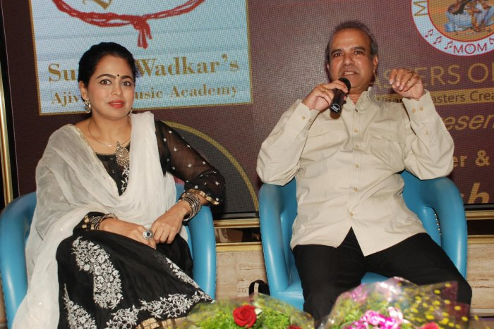 Musical duo Singers Padma and Suresh Wadkar were in the city on Saturday.