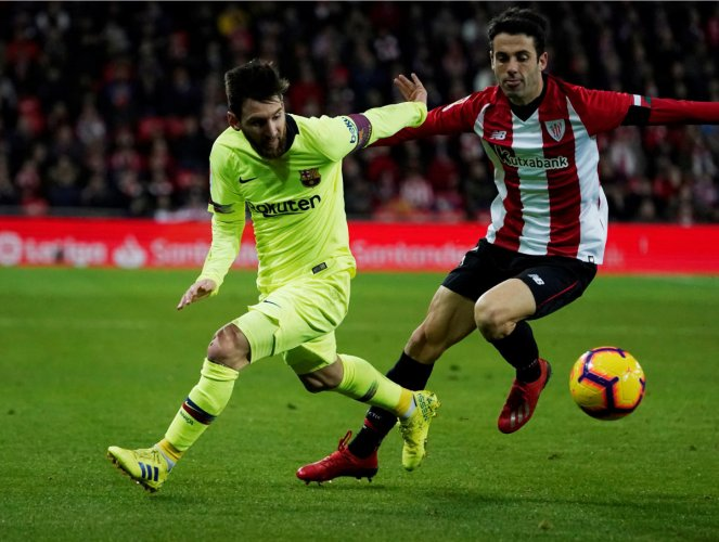 PATCHY: Lionel Messi suffered fitness issues in Barcelona's goalless draw against Athletic Bilbao. REUTERS