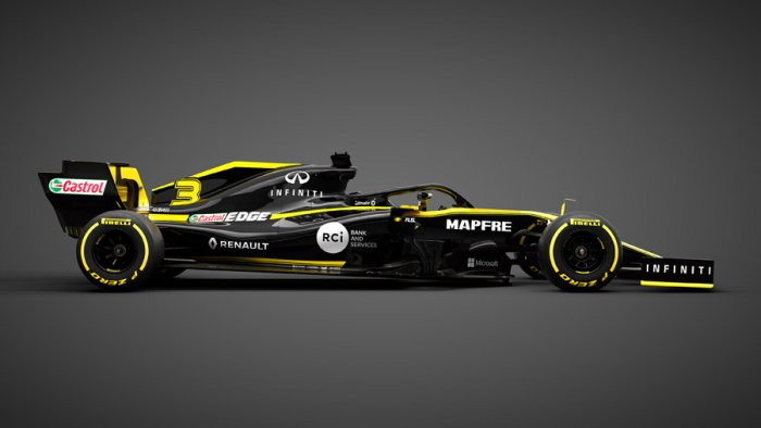 The R.S.19, the 2019 challenger from Renault. Picture credit: Renault F1 Team