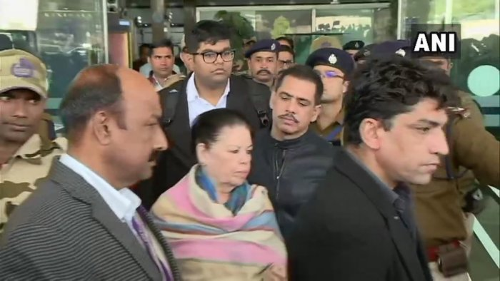 Vadra's mother Maureen is also likely to appear before the central probe agency at about 10 AM at its zonal office on Bhawani Singh Road in Jaipur Tuesday. (ANI/Twitter)
