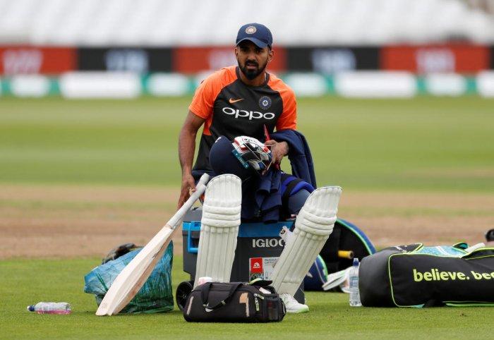 LITMUS TEST: Karnataka batsman K L Rahul will be looking to notch a good score in Mysuru against England Lions to impress the national selectors. Reuters File Photo