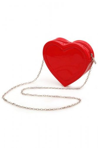 Go for a heart-shaped bag to add spunk to your Valentine's Day look.