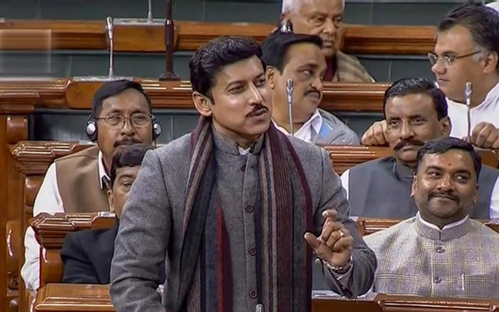 Minister of State for Information and Broadcasting Rajyavardhan Rathore introduced the Cinematograph (Amendment) Bill, 2019 in the Upper House. (PTI File Photo)