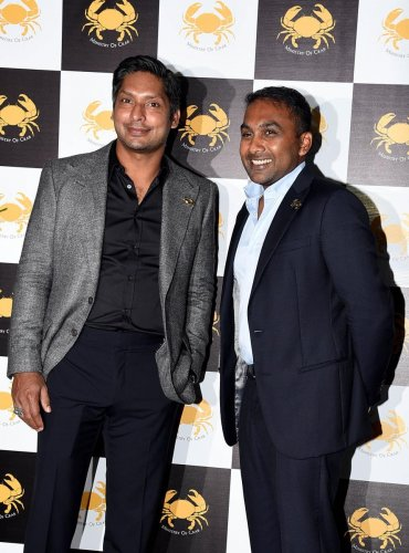 Former Sri Lanka captains Kumar Sangakkara (left) and Mahela Jayawardene heaped praise on Indian captain Virat Kohli. AFP File Photo