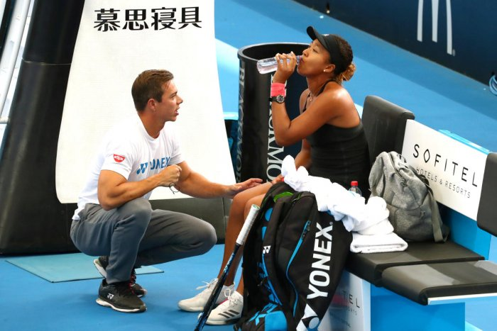 Naomi Osaka with coach Sascha Bajin. REUTERS