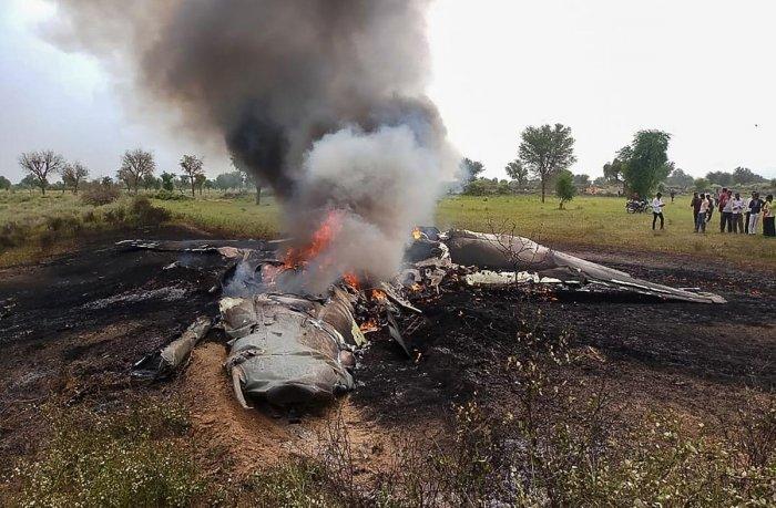 PTI file photo of a MiG 27 crash