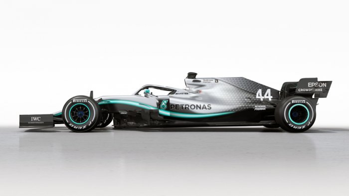 Mercedes' 2019 challenger, the Mercedes-AMG F1 W10 EQ Power+. Picture credit: Mercedes-AMG Petronas Motorsport