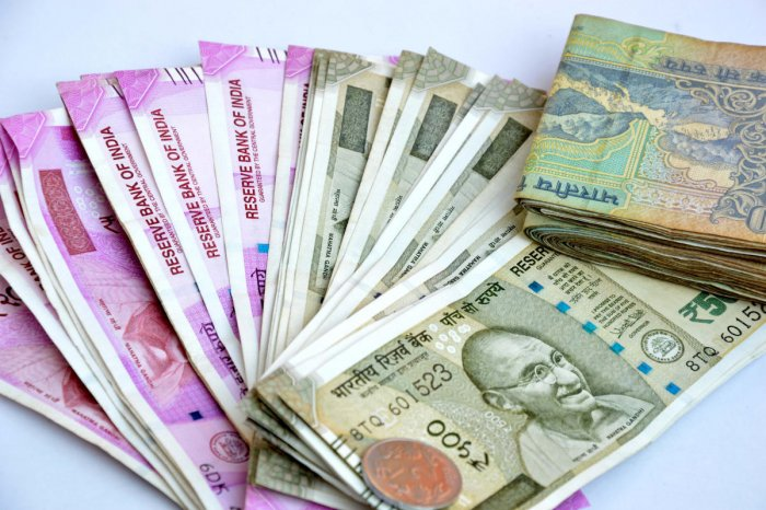 The rupee appreciated by another 26 paise to 70.44 against the US dollar in opening trade Wednesday after retail inflation fell to a 19-month low of 2.05 per cent in January. File photo
