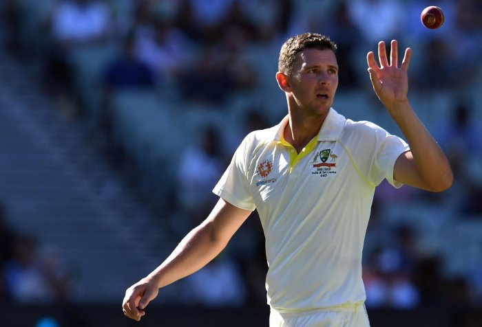 RACE AGAINST TIME: Australian pacer Josh Hazlewood is struggling from a back injury. AFP File Photo