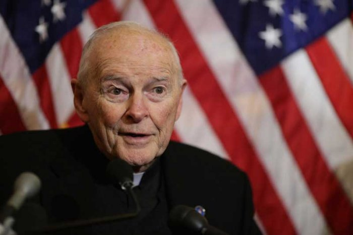 McCarrick, 88, who resigned from the Vatican's College of Cardinals in July, is the first cardinal ever to be defrocked for sex abuse. (AFP File Photo)
