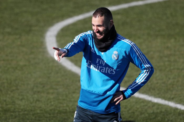 REJUVENATED: Real Madrid's Karim Benzema, who has had a good run of form of late, will be hoping to strike it rich against Atletico Madrid on Saturday. REUTERS