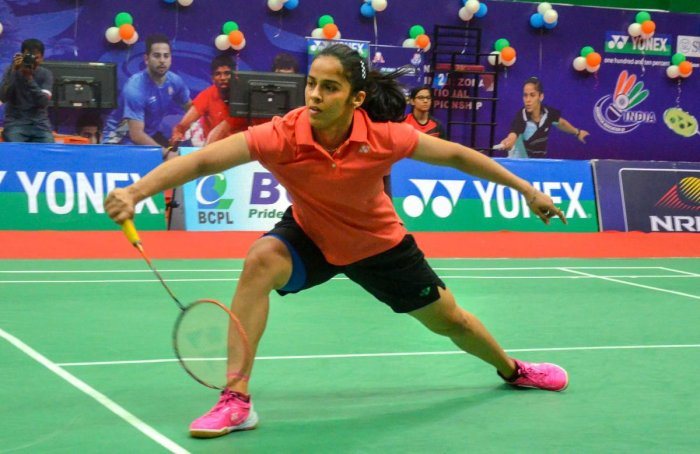 PERFECT FINISH: Saina Nehwal produced a dominating performance to tame PV Sindhu in the women's final and claim her fourth Senior National badminton title on Saturday. PTI