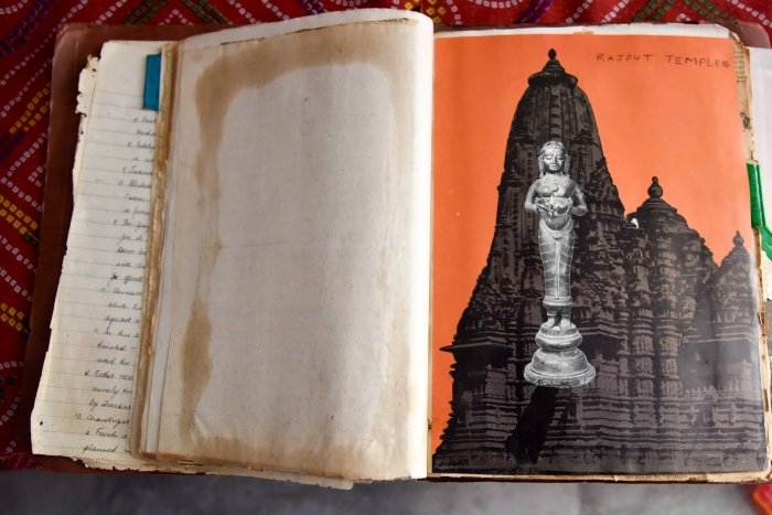 Heera's other hobby is collecting pictures of temples across India and other countries.