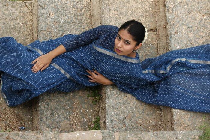 SAREE FOR A SOIREE Aavaran Savaan saree. Photos by author