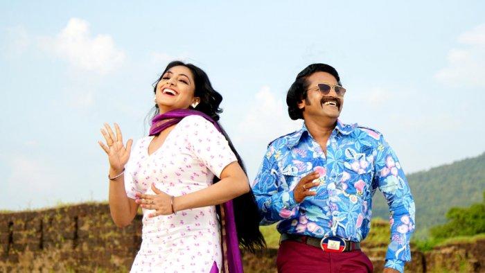 Harripriya and Rishab Shetty in 'Bell Bottom', latest in the retro-inspired films in Sandalwood.