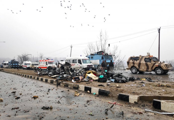 The report made a special mention of J-K and the growing threat of IED and similar explosives in the state at a time when investigators suspect that the deadly attack that killed 49 CRPF personnel in Pulwama on February 14 was not executed by a 'lone wolf'. (Reuters File Photo)