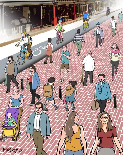 pedestrian and footpath_illustration
